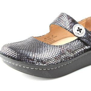 Alegria Pewter Charmer Mary Janes